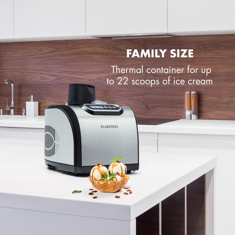 Klarstein Sweet Dreams • Heladera • Máquina de helados • Yogurtera • Compresor • Para helados yogures caseros • 1,5 Litros • Temporizador configurable ...