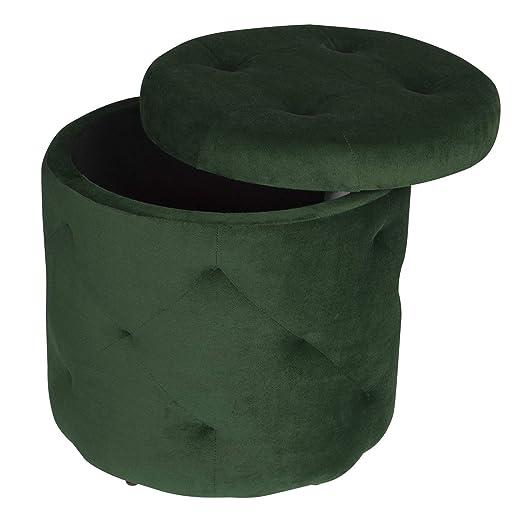 Holzbeine Aufbewahrungsbox mit Stauraum belastbar bis 300KG EUGAD Sitzhocker Sitztruhe gepolsterte Sitzbank aus Samt 0029DZ Cremewei/ß