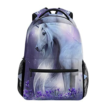 ZZKKO Fantasy Forest Animal Unicornio Mochilas Colegio Libro Bolsa de Viaje Senderismo Camping Daypack: Amazon.es: Deportes y aire libre
