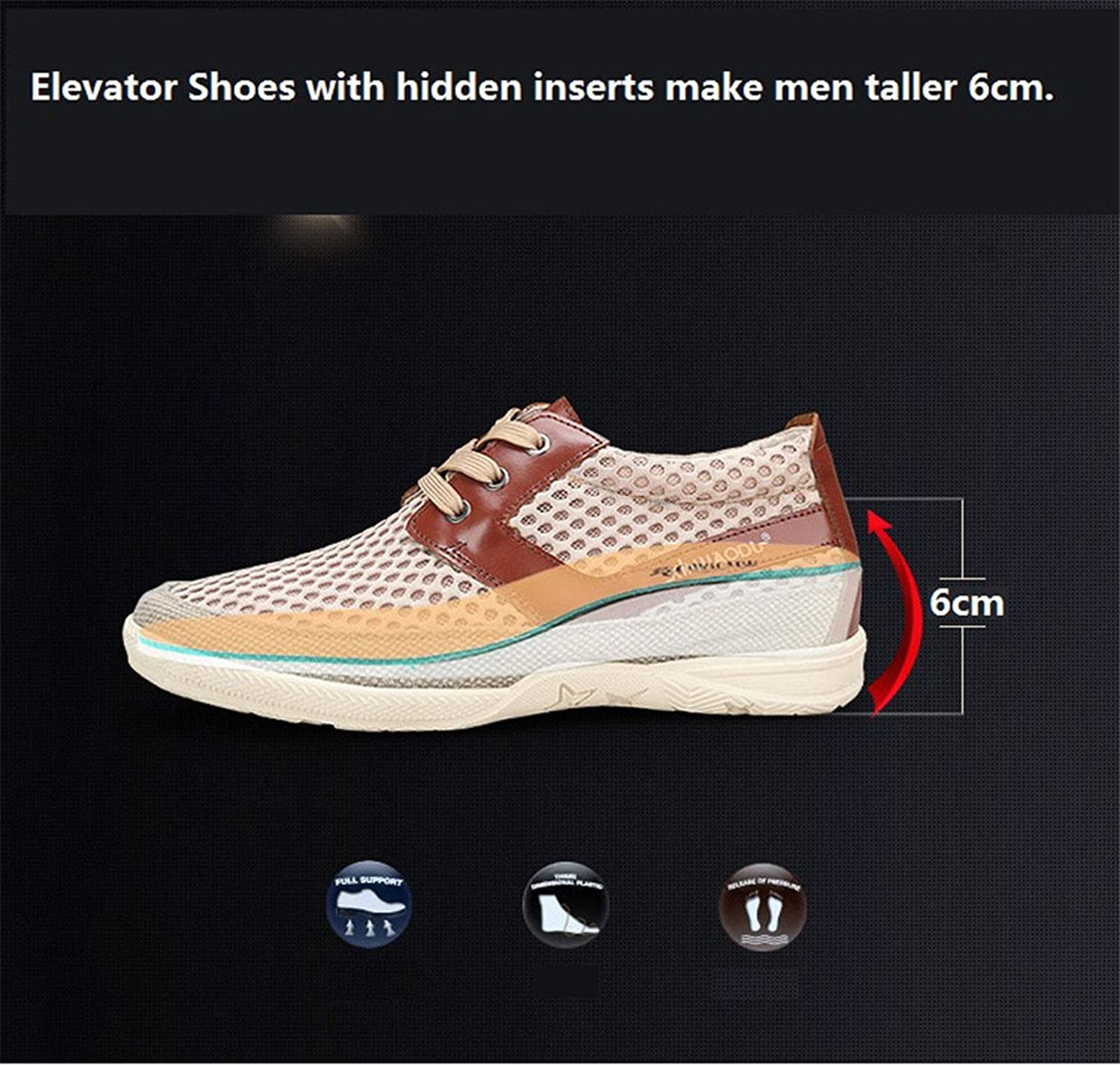 Men's Height Increasing Elevator Shoes Casual Business Mesh and leather  Upper Taller 2.36 Inches: Amazon.ca: Shoes & Handbags