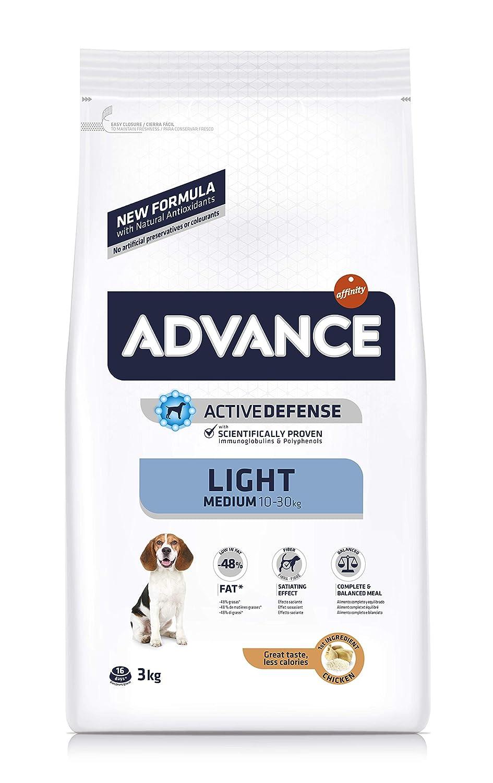 Advance Light Pienso para Perros Medium Adult - 3000 gr: Amazon.es ...