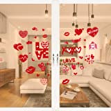 Tifeson Valentine's Day Heart Window Clings