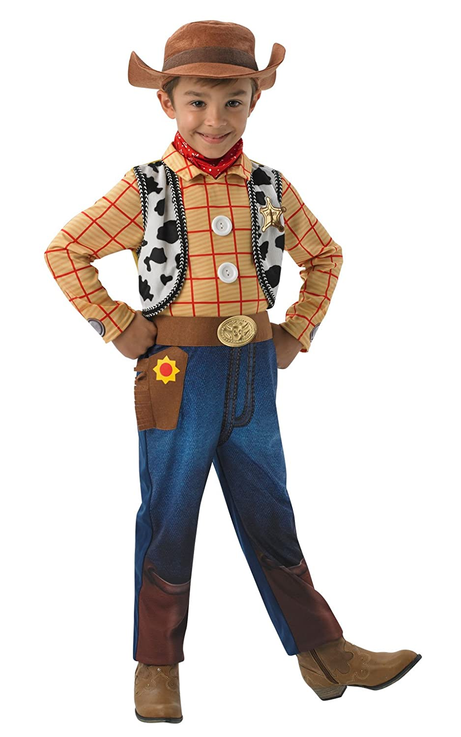 Rubieu0027s Official Disney Toy Story Woody Deluxe Children Costume - Small Amazon.co.uk Toys u0026 Games  sc 1 st  Amazon UK & Rubieu0027s Official Disney Toy Story Woody Deluxe Children Costume ...