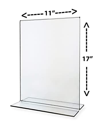 Sign Holder 11x17 Acrylic Table Top Bottom Loading Sold In Lots Of 5