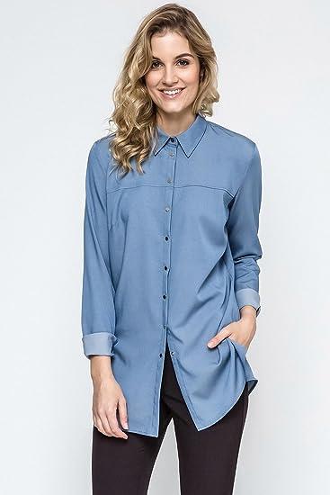 Ennywear 240128 Camisa de Manga Larga Sin Estampado Para Mujeres - Hecha EN La UE: Amazon.es: Ropa y accesorios