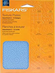 Fiskars Texture Plate Double Sided Assortment II 6/Pkg 12 Designs 5659
