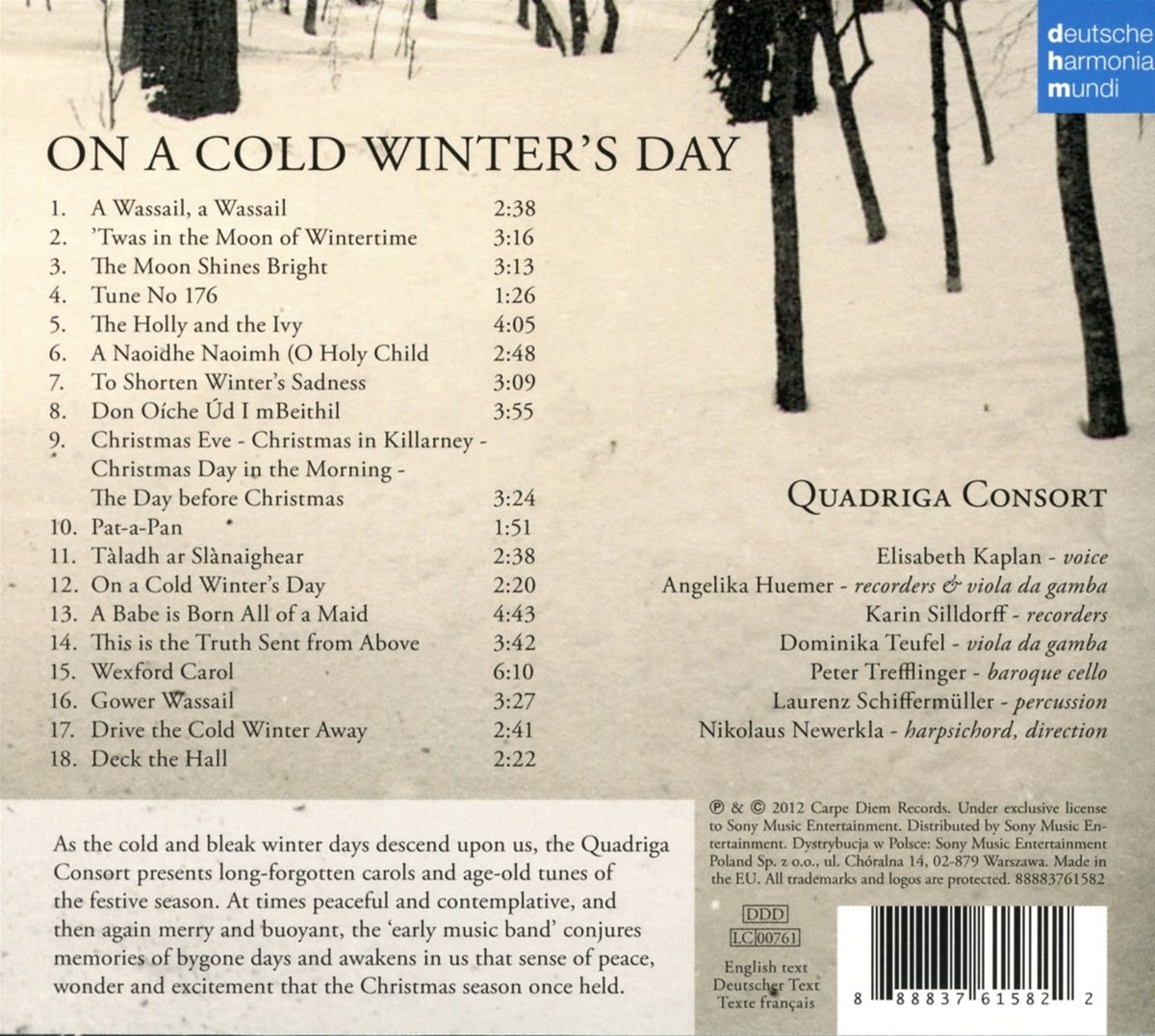 Quadriga Consort - On a Cold Winter\'s Day - Early Christmas Music ...