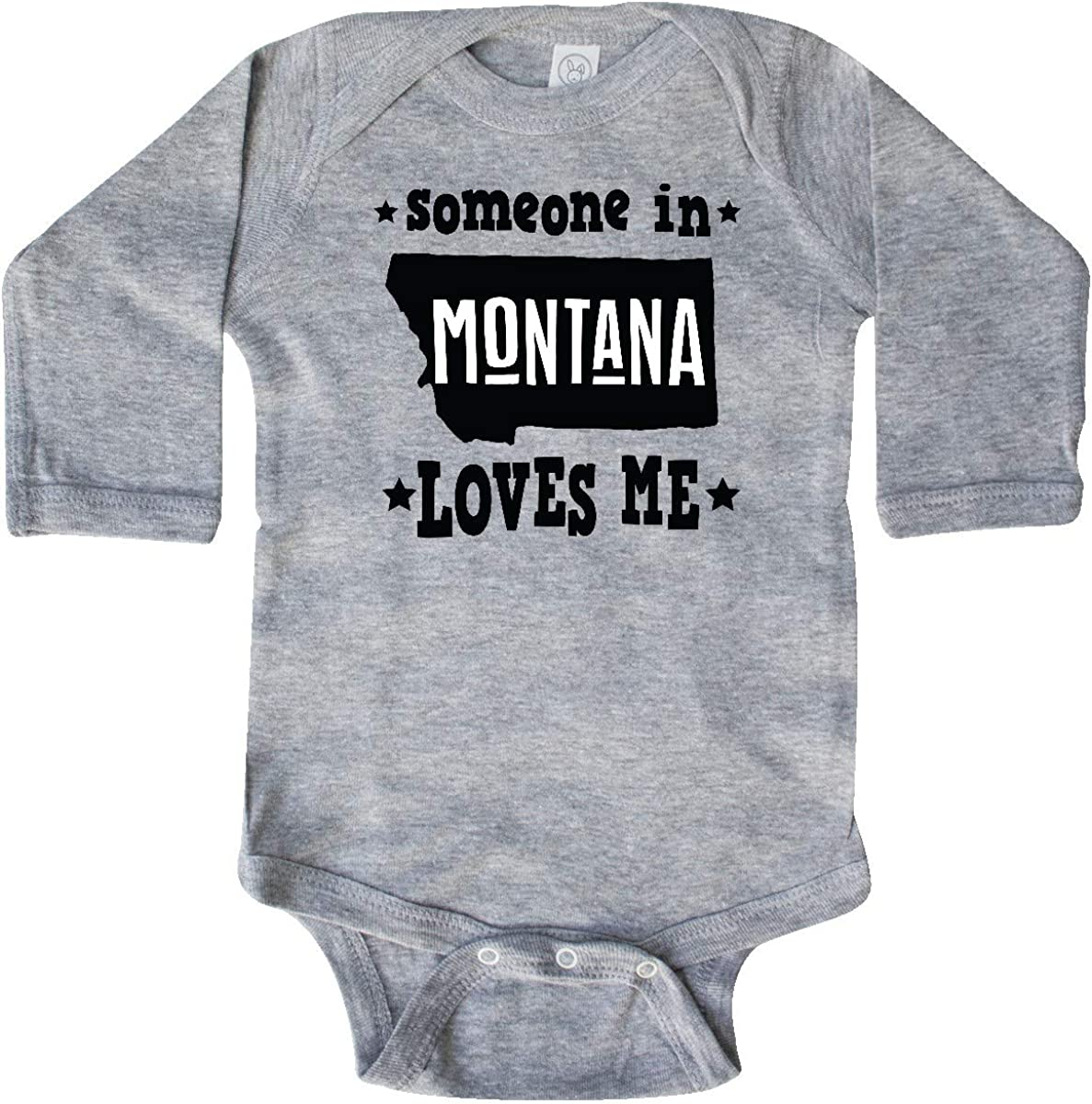 inktastic Montana Someone Loves Me Long Sleeve Creeper