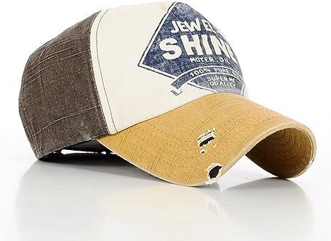 SHANGDOOR Estilo Vintage Washed algodón Gorro de Trucker Gorra de ...