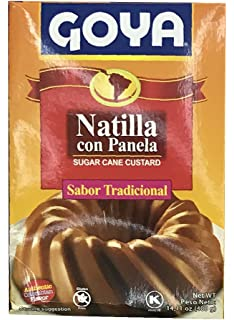 Goya Sugar Cane Custard 14.11 oz, Natilla Con Panela - Sabor Tradicional (Authentic Colombian