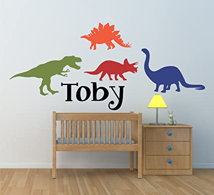 Nice Dinosaur Wall Decal For Kids Bedroom Personalized Name  Kids Room Decals,  Boys Name Decals