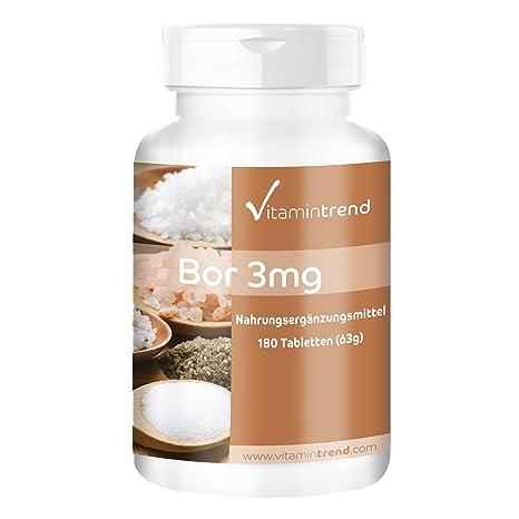 Boro 3mg – ¡Bote para 6 MESES! - vegano – sin estearato de magnesio