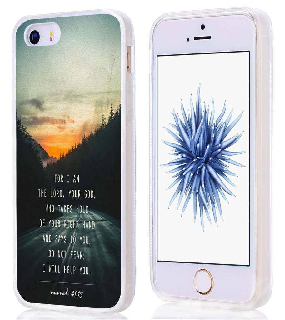 info for 89a1d 8130e 5S Case Bible Themes,Hungo Compatible Soft Tpu Silicone Protective Cover  Case Replacement For Iphone 5/5S/SE Christian Quotes Do Not Fear I Will  Help ...