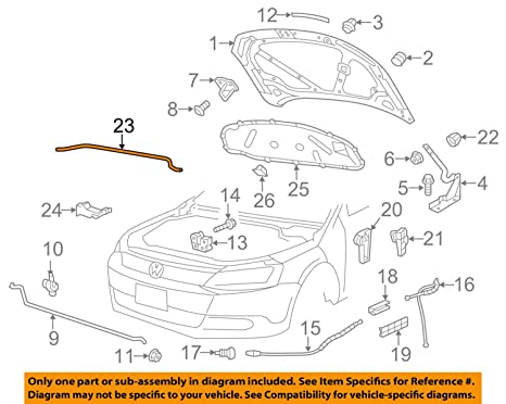 Amazon.com: VOLKSWAGEN 1K0823723C GENUINE OEM REAR SEAL ...
