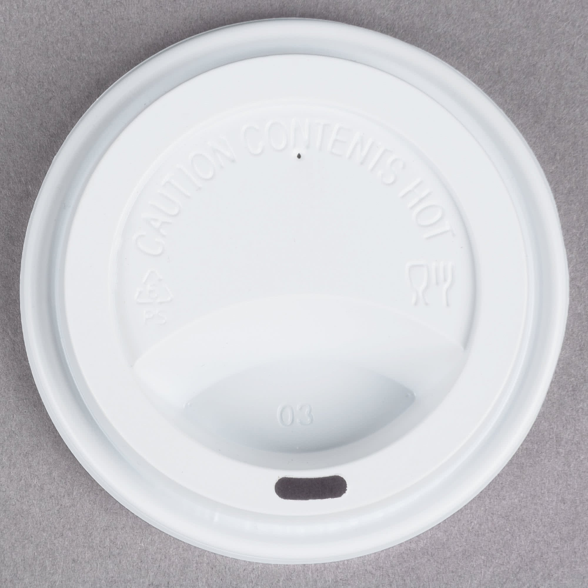 TableTop King 10, 12, 16, and 20 oz. White Hot Paper Cup Travel Lid - 1000/Case