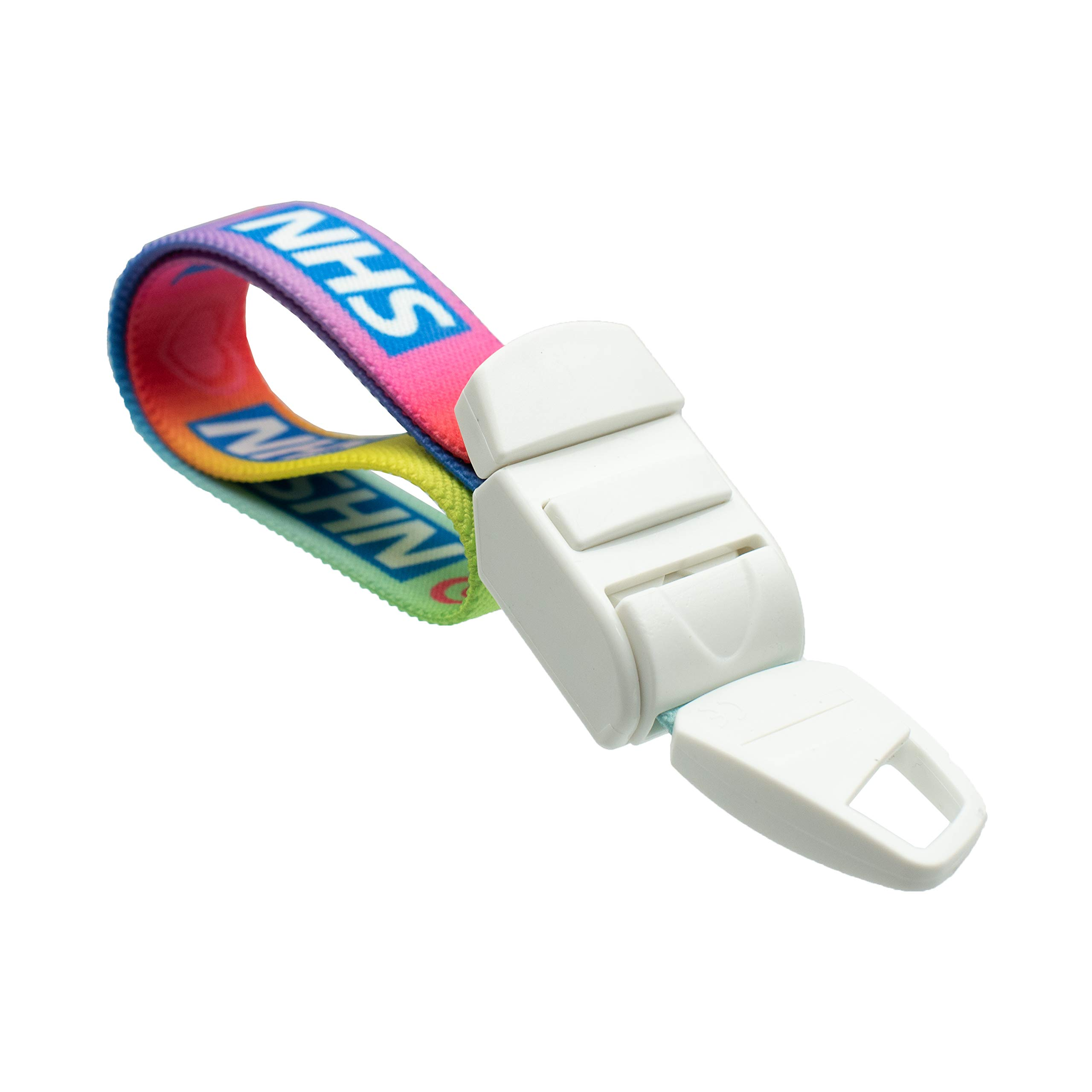 Rolseley Medical Rainbow Tourniquet with LOVE FOR NATIONAL HEALTH Pattern with ABS Plastic Buckle Latex Free Elastic Band Perfect for Doctors, Nurses, Students and Paramedics