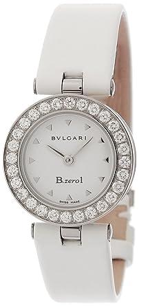6e610288b2fa [ブルガリ]BVLGARI 腕時計 B-zero1 ホワイト文字盤 カーフ革ベルト BZ22WSDL.