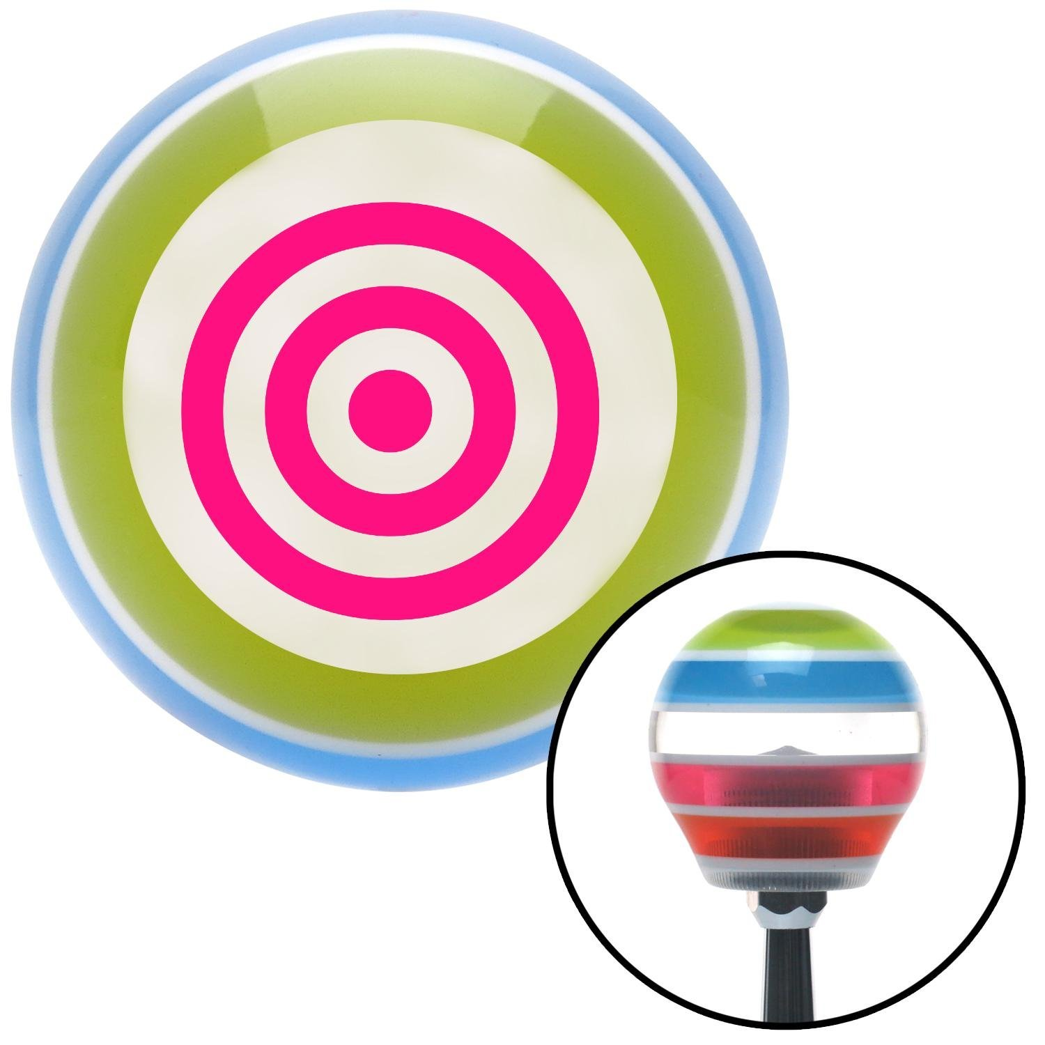 American Shifter 134893 Stripe Shift Knob with M16 x 1.5 Insert Pink Target