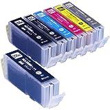 インクのチップスオリジナル製品 キヤノン用 互換インク BCI-351XL+350XL/6MP+BCI-350XLPGBK 6色+顔料ブラック1個セット フラストレーションフリーパッケージ FFP