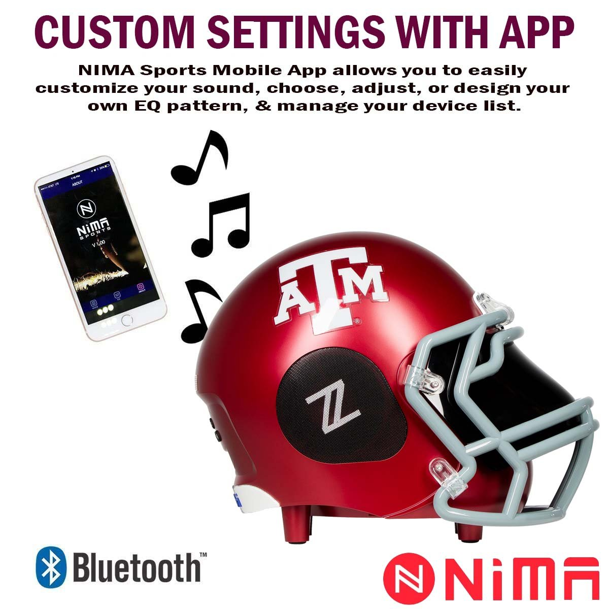 Arizona State Devils Small Portable Bluetooth Speaker Helmet 12-Hour Battery Life with Sub-Woofer and 360-Degree HD Audio 5-Inch NCAA Officially Licensed 12 watts