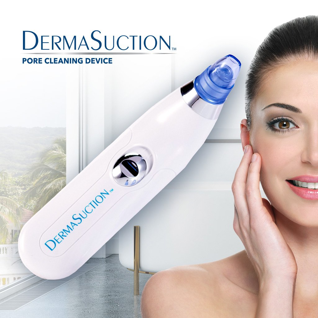 Official As Seen On TV DermaSuction Facial Pore Vacuum by BulbHead, Blackhead Extractor Cleans Pores Painlessly & Gently Without Squeezing Manufactured In An FDA-Registered Facility
