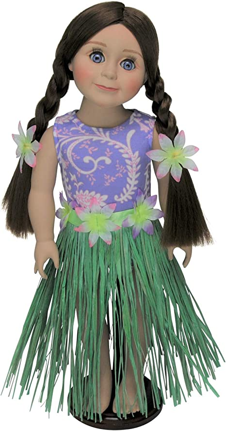 DOLL CLOTHES FOR 18 Inch AMERICAN GIRL The Queen/'s Treasures HULA SWIM OUTFIT