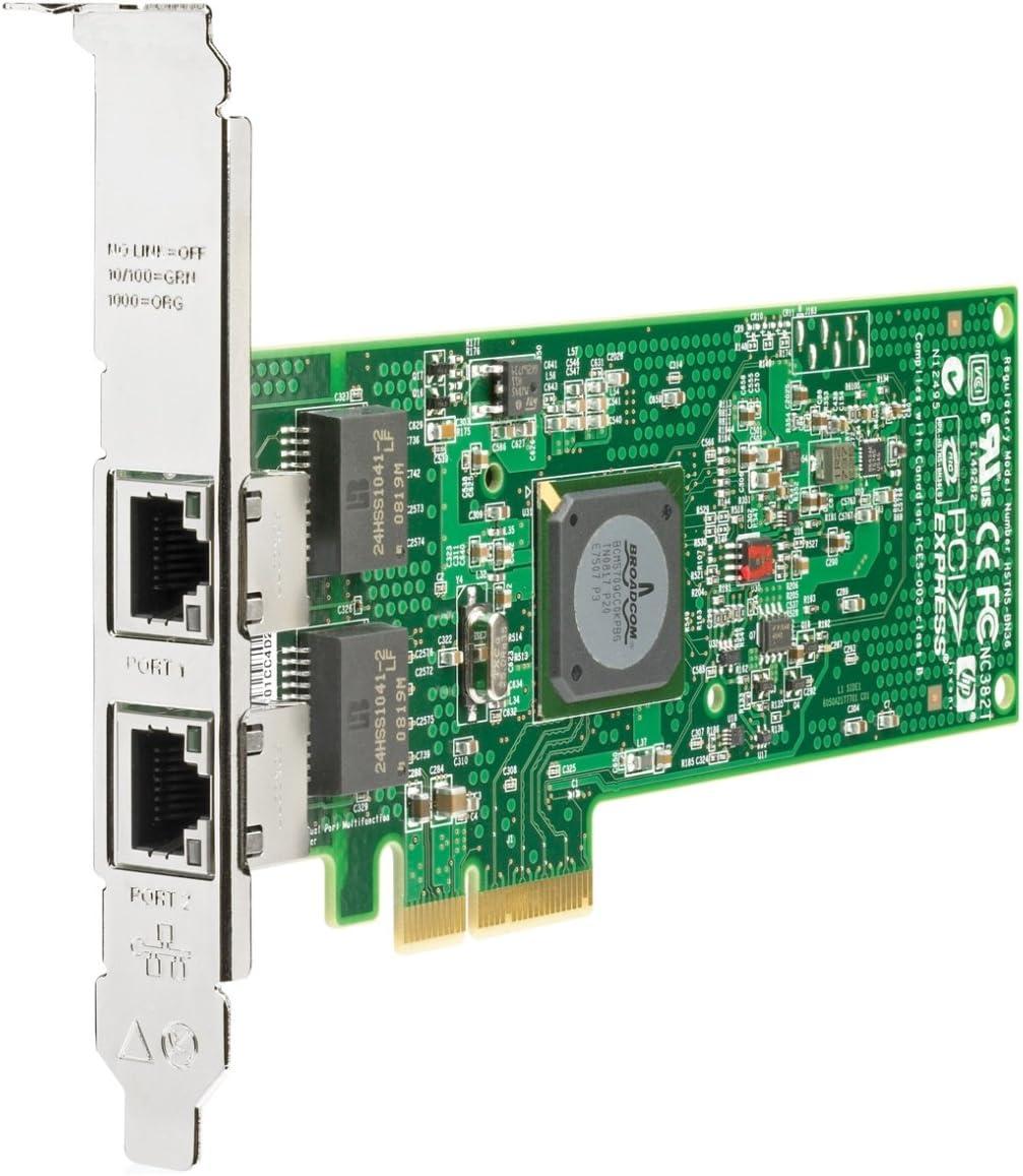 HP NC382T PCI Express Dual Port Multifunction Gigabit Server Adapter (458492-B21) -