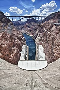 Hoover Dam Bypass Bridge Overlook Unframed Vinyl Art Print - Perfect for indoors / outdoors. All-weather.