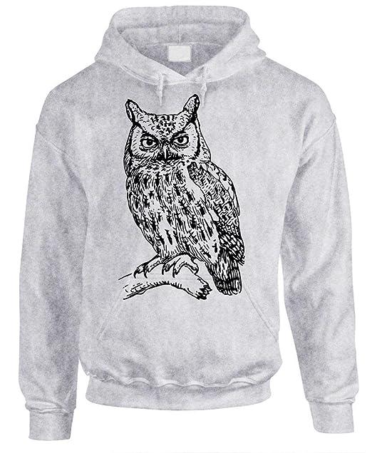 OWL Mens Pullover Hoodie