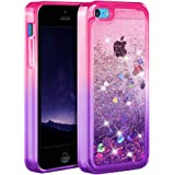 Ruky iPhone 5c Case, [Gradient Quicksand Series] Glitter Flowing Liquid Floating Protective Shockproof Clear TPU Girls Case f