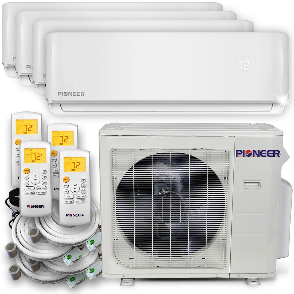 PIONEER Air Conditioner Pioneer Multi Split Heat Pump, Quad (4 Zone)