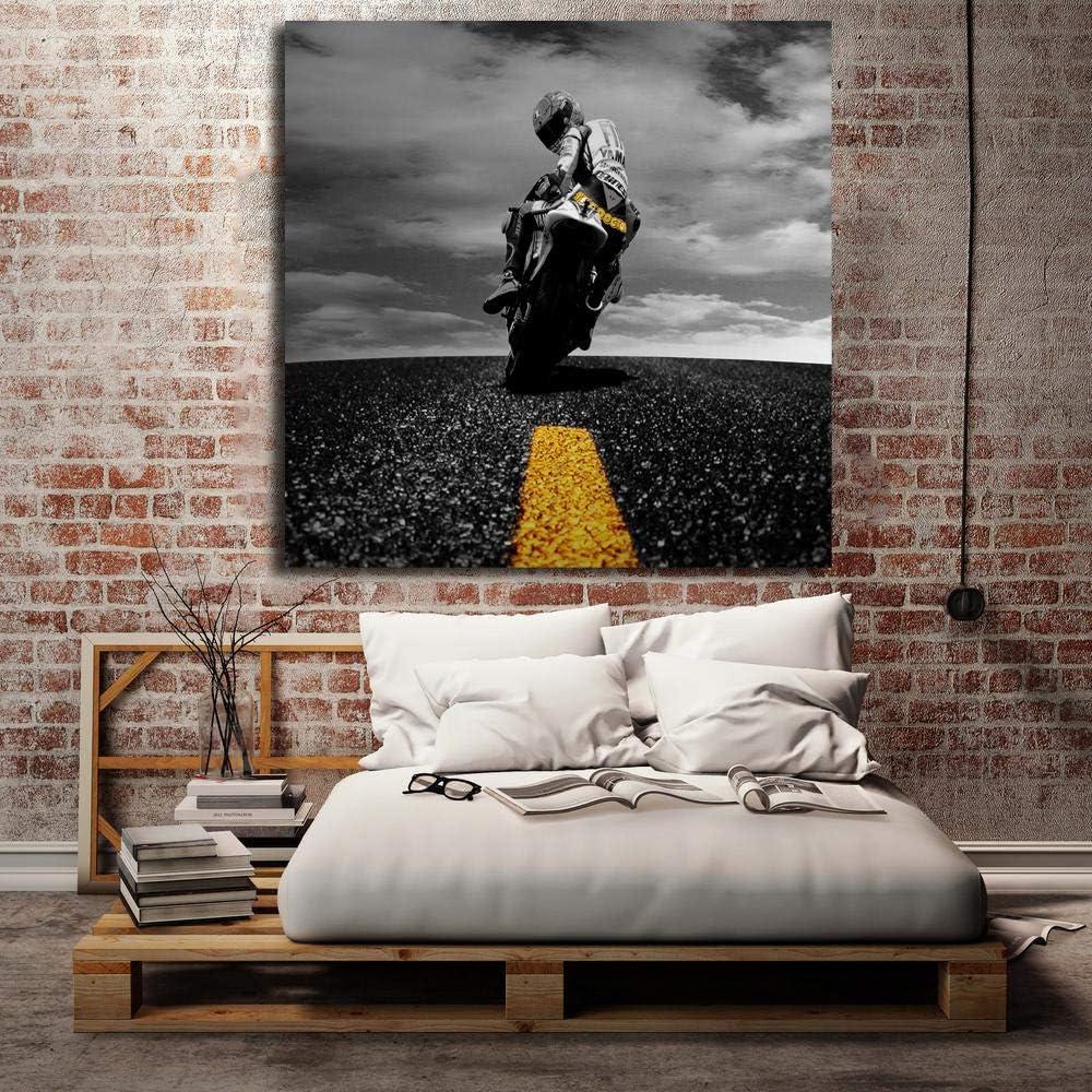 Amazon Co Jp バレンチノ ロッシー壁紙キャンバスポスター印刷壁アート絵画装飾絵動機付けの引用ルームガレージ家の装飾24 24インチフレームなし ホーム キッチン