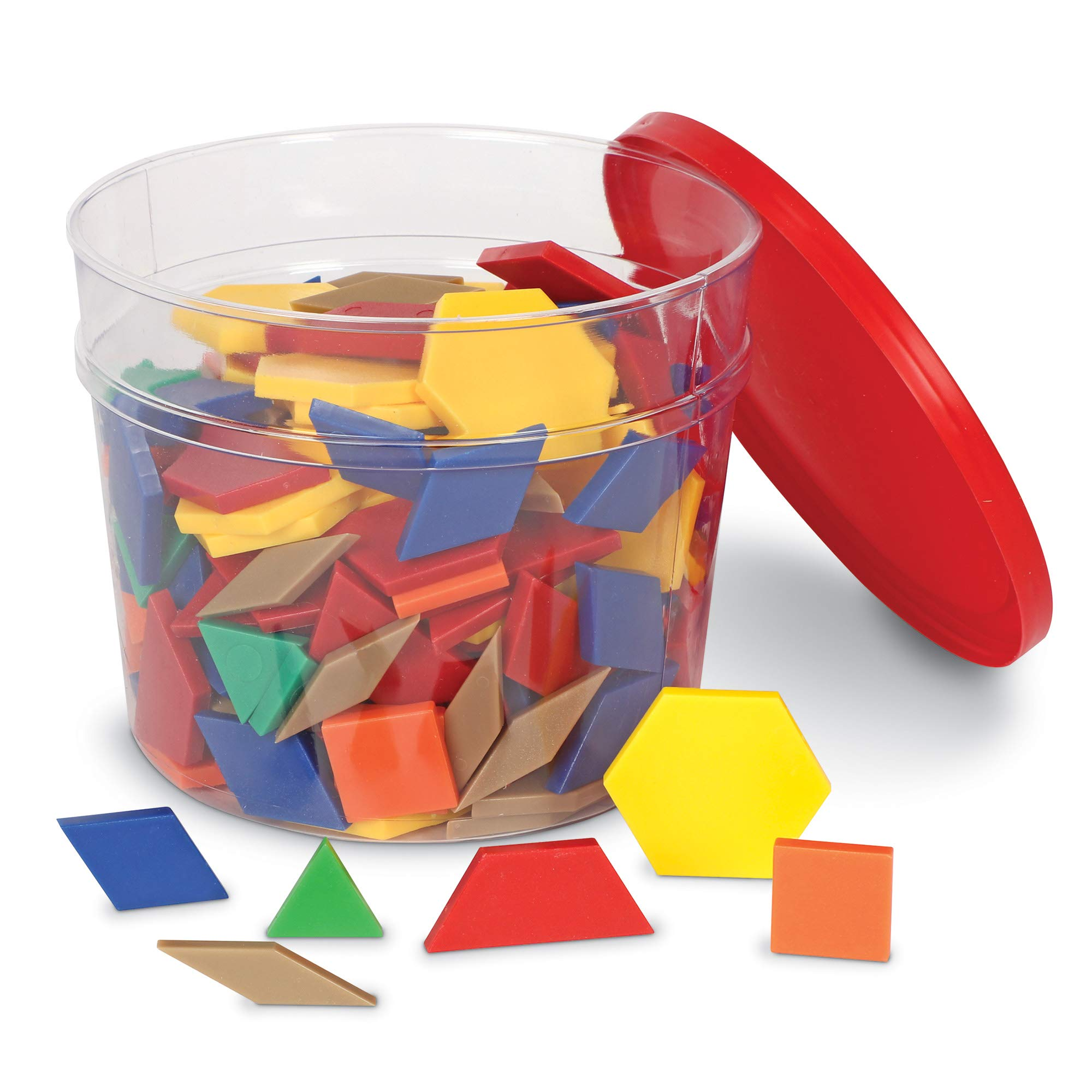 Learning Resources Plastic Pattern Blocks (Set of 250) by Learning Resources