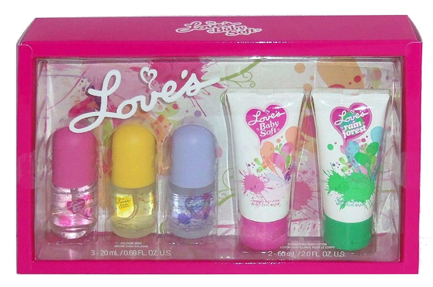 Amazon.com : Love's 5 Piece Scented Body Lotion and Perfume Gift ...