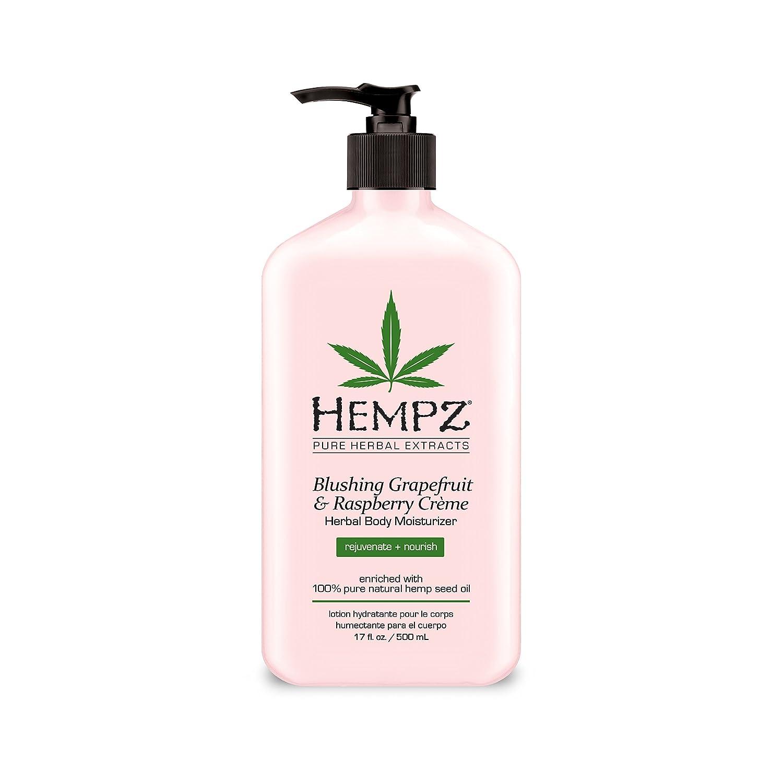 Hempz Herbal Body Moisturizer, Light Pink, Blushing Grapefruit/raspberry Creme, 17 Fl Oz 676280020535