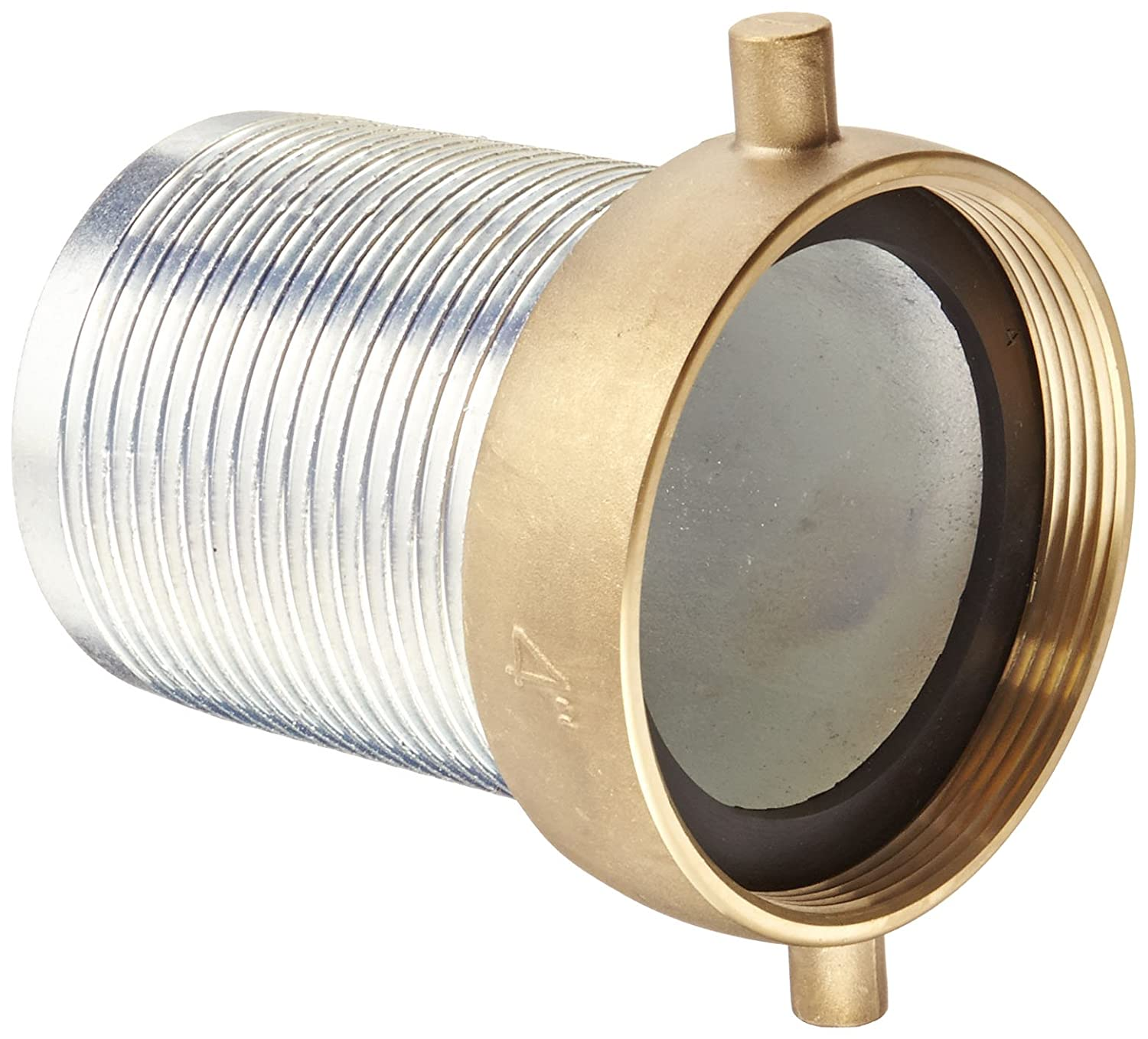 4 NPSM Female x 4 Hose ID Barbed 4 NPSM Female x 4 Hose ID Barbed Dixon Valve /& Coupling Dixon Valve FCSB400 Plated Steel Shank//Water Fitting King Short Shank Suction Coupling with Brass Nut