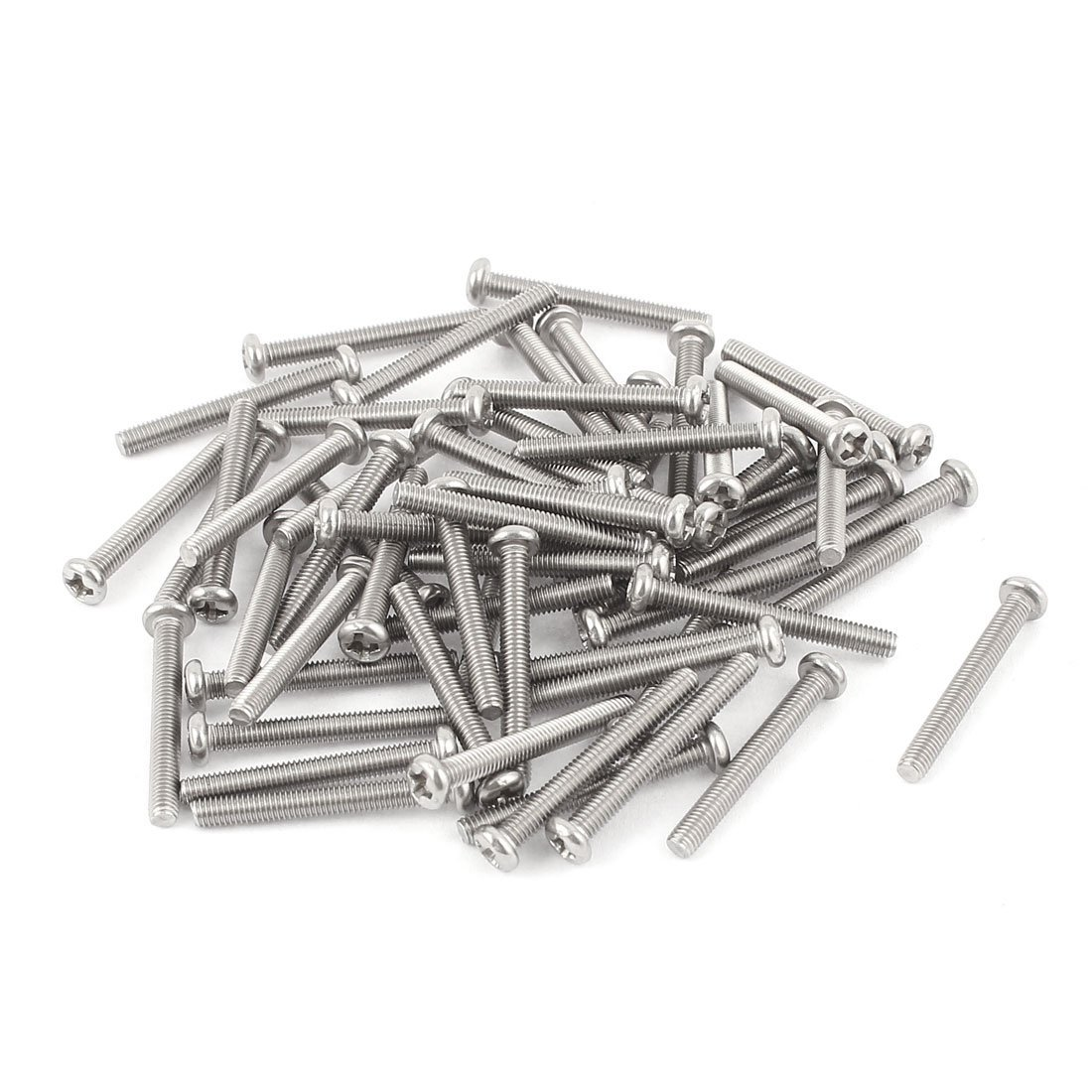 Pack of 50 Liberty M3 x 25mm 304 Stainless Steel Phillips Pan Head Screws Bolt