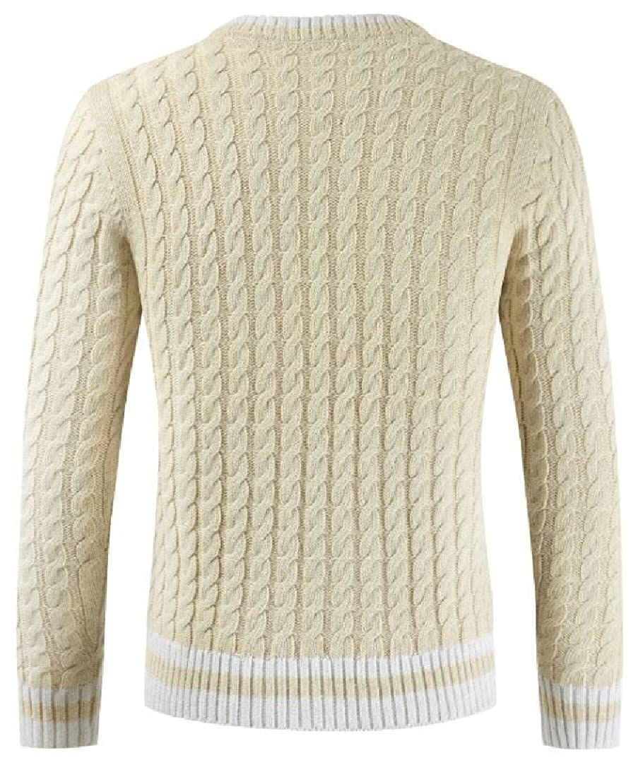 Generic Mens Casual Slim Fit Pullover Sweaters Knitted Basic Designed Sweater