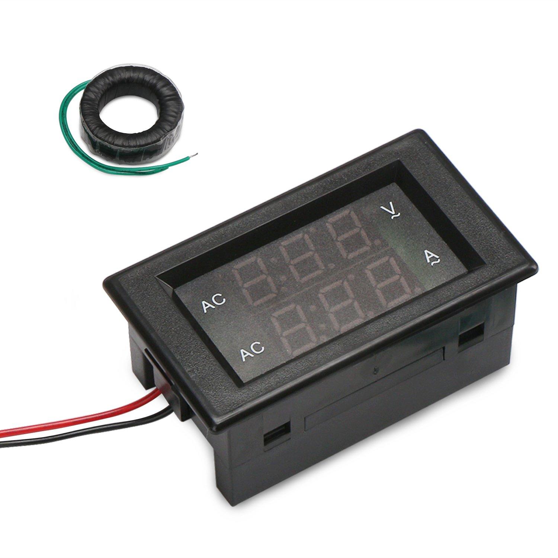 Drok Lcd Digital Multimeter Voltmeter Ammeter Ac 80 300v Voltage Wiring And Amp Meter Current Gauge 100a Volt Ampere