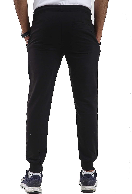 con Toppa a Coste Parsa Fashions Aderenti Pantaloni da Jogging da Uomo in Pile Taglie dalla S alla XL