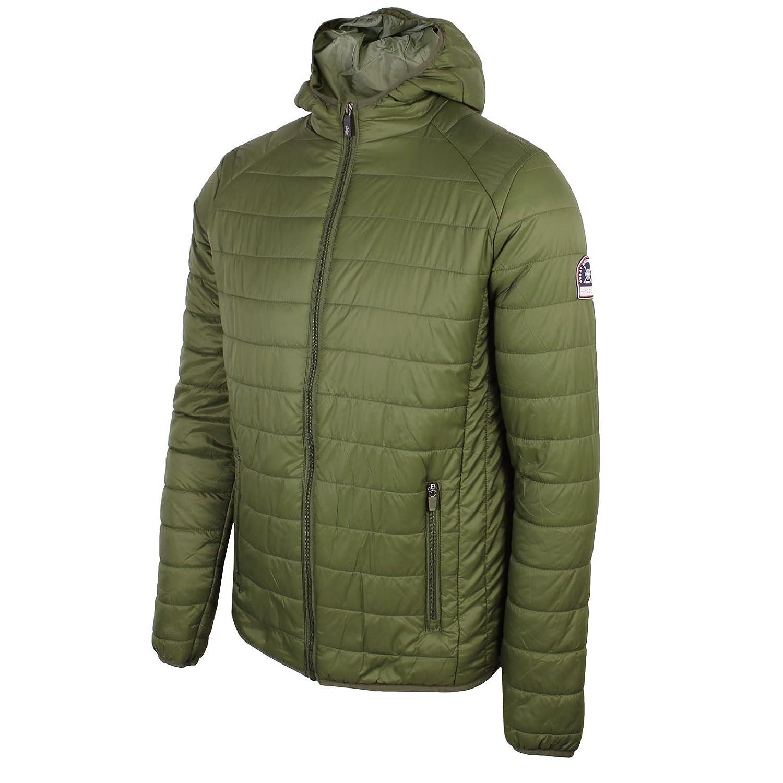 Henleys Men's Destruct Hooded Padded Coat Jacket Black