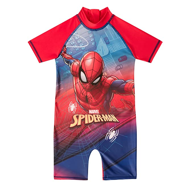 5aeec4bb6e Amazon.com: As Available Toddler Swimsuit Style Spiderman Size 1.5-2 ...