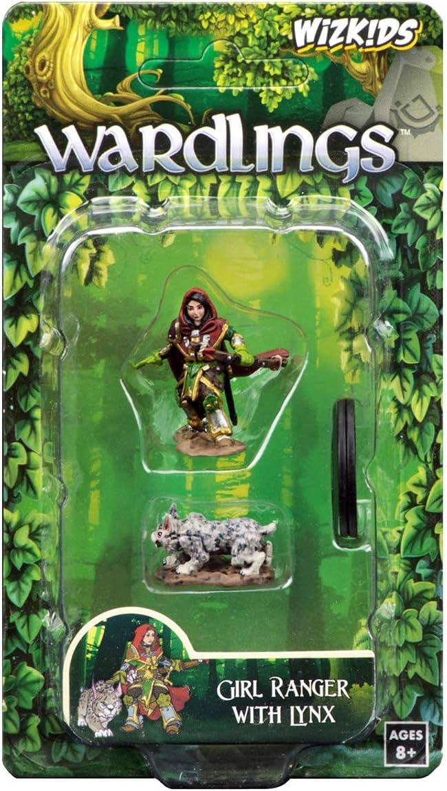 WizKids Wardlings RPG Figures Girl Ranger /& Lynx WZK73322
