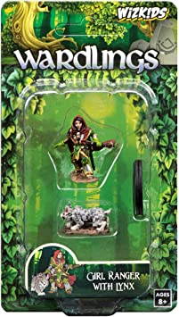WizKids Wardlings Girl Ranger with Lynx Painted Fantasy Miniatures Set: Amazon.es: Juguetes y juegos