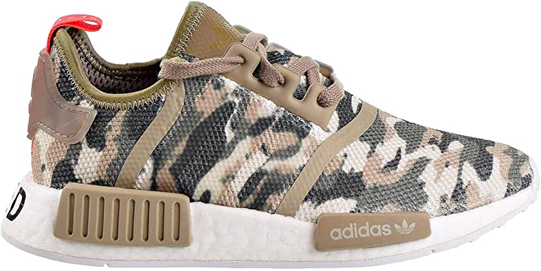 Amazon Com Adidas Nmd R1 Big Kids Shoes Clear Brown Solar Red