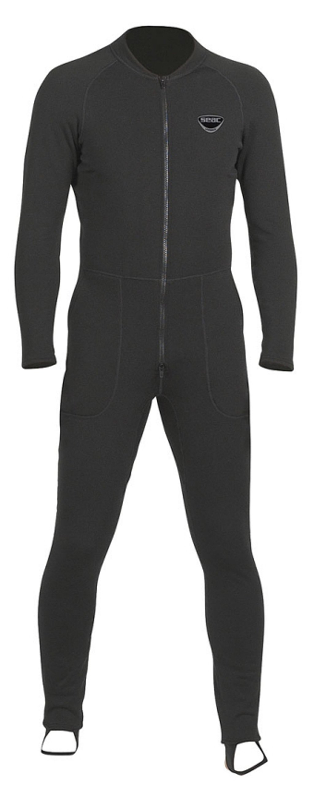 SEAC Unifleece Insulating Undergarment Dry Suit, Black, XX-Small