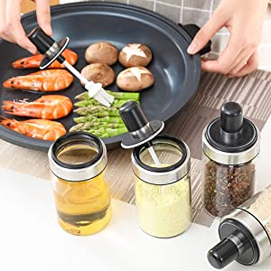Glass Oil Dispenser with Basting Brush, Olive Oil Bottle with Oil Brush for BBQ Pastry Grill Baking Kitchen Cooking, Heatproof, Dishwasher Safe, EASY Clean Food Grade BPA Free 8.5OZ 250 ML