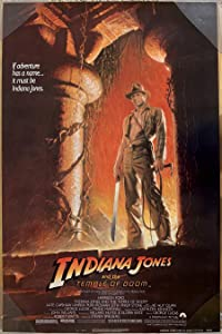 INDIANA JONES AND THE TEMPLE OF DOOM MOVIE POSTER 1 Sided ULTRA RARE ORIGINAL Advance 27x41