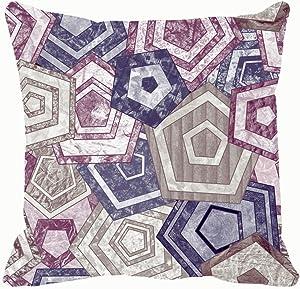 "Throw Pillow Covers Geometric Cotton Linen Cushion Cover Cases Pillowcases Sofa Home Decor 18""x 18""Inch (45 x 45cm)"
