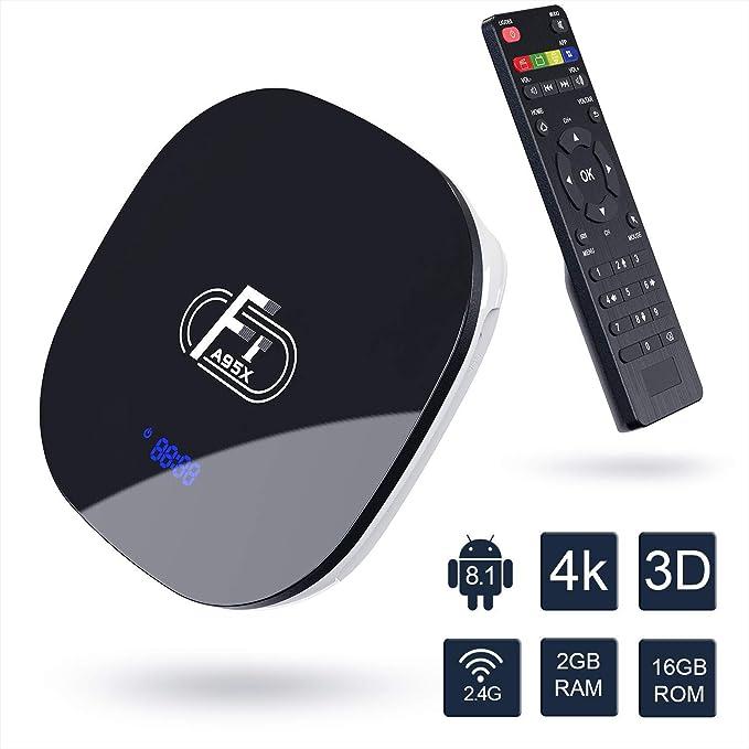 HOT A95X F1 Android 8.1 2GB+16GB Quad Core Smart TV Box WIFI USB 4K Media Player